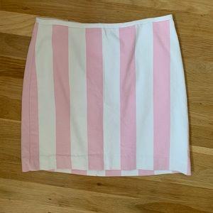 Madewell pink and white stripe mini skirt